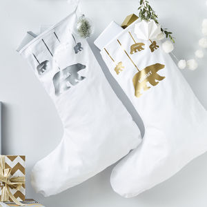 Personalised Polar Bear Christmas Stocking - christmas sale