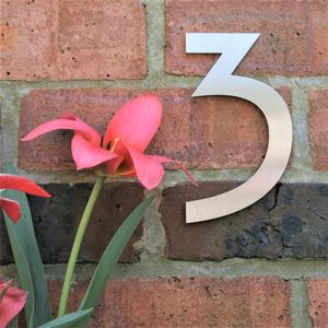 Mackintosh Stainless Steel House Number - home accessories