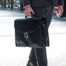 Mens Luxury Large Leather Briefcase.'The Tomacelli'