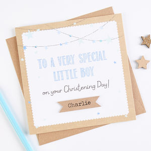 Personalised Blue Christening Day Card - shop by category