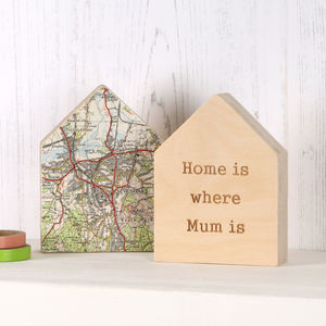 Personalised Map Location House Ornament Gift For Her