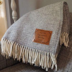 Personalised Herringbone Throw - shop the christmas catalogue
