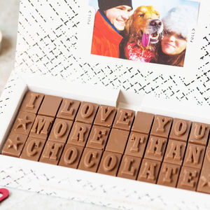 'I Love You More Than Chocolate' Message