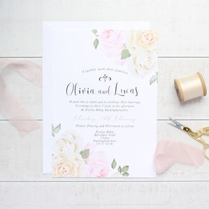 Secret Garden A5 Wedding Invitation