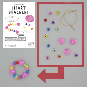 Make Your Own Heart Bracelet Kit - gifts for children