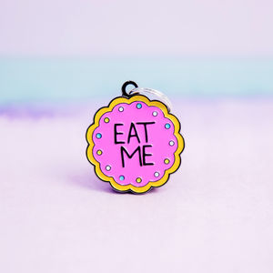 Eat Me Pet Cat/Dog ID Tag/ Collar Charm - jewellery sale