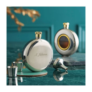 Engraved Round Hip Flask Limited Edition - gifts for him
