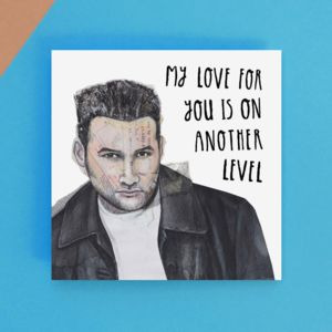 Love On Another Level Greetings Card