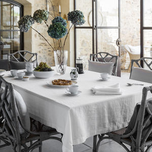 Washed Linen Tablecloth - dining room