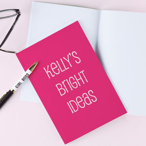 Personalised Bright Ideas Note Book