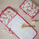 Bird Floral Oilcloth Gift Hanging Toiletry Wash Bag