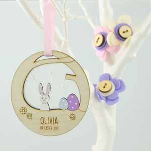 Personalised Baby's First Easter Decoration - home accessories