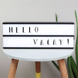 Long Wooden LED Light Box With Letters - 30th birthday gifts