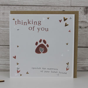 Pet Condolence Sympathy Card - sympathy & sorry cards