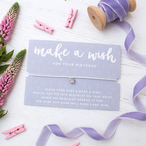 Make A Wish Birthday Bracelet - bracelets & bangles