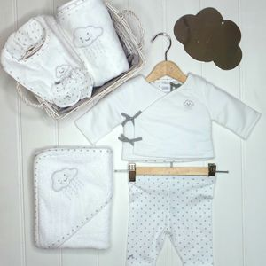 Unisex French Designer Six Piece Baby Shower Gift
