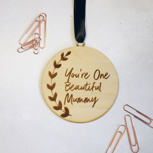'Beautiful Mummy' Wooden Keepsake