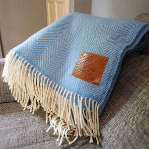 Personalised Wool Throw Engraved With Sonnet 116 - personalised