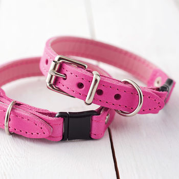 Handmade Italian Leather Cat Collar