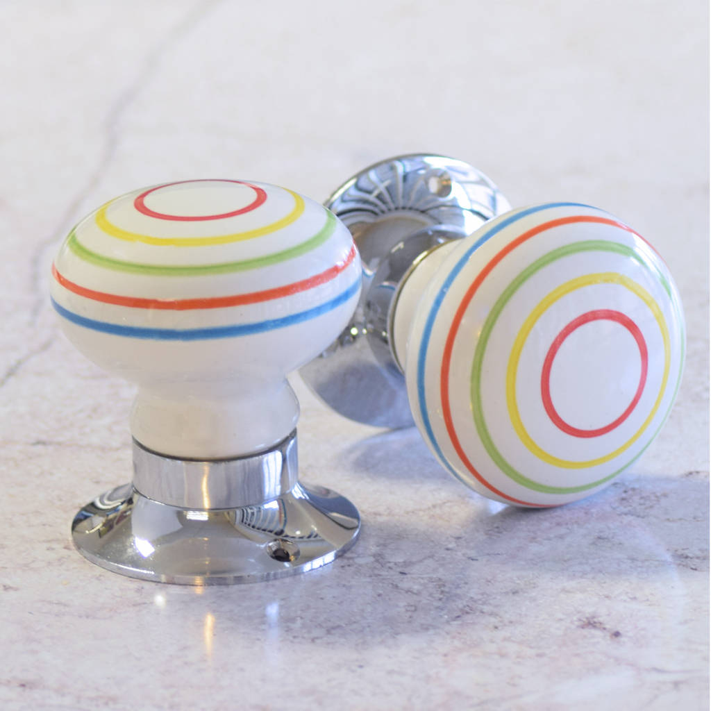 colourful internal turning mortice door knobs by pushka home ...