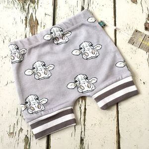 Sale! Cow Baby Shorts, Baby Shorts, Organic, Was £10
