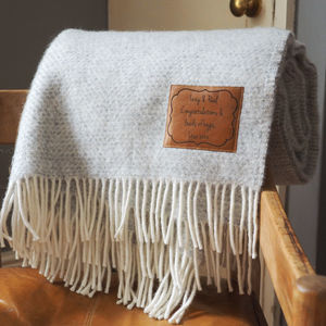 Personalised Herringbone Throw