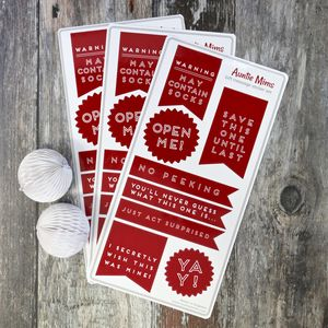 Christmas Gift Wrap Sticker Set