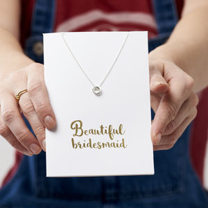 Bridesmaid Card And Necklace Set