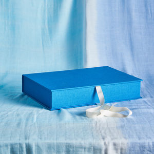 Personalised Blue Keepsake Box