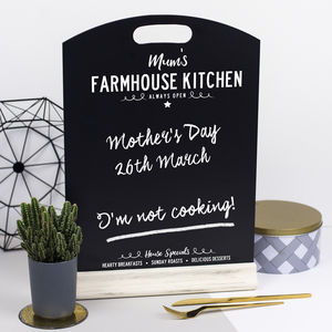 Personalised Chalkboard Menu - mother's day gifts