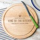 Personalised Mens Wooden Chopping Board