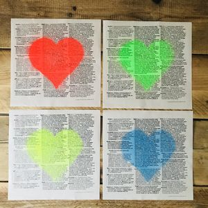 'Love Is All Around' Typography Print - literature