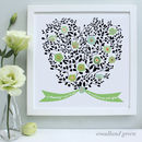 green mummy family tree bouquet