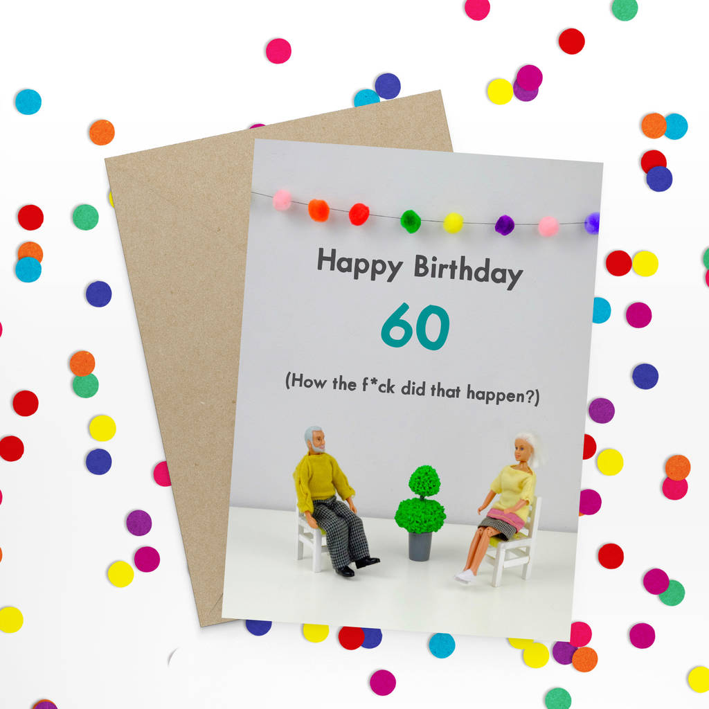 60 Birthday Card By Bold Bright