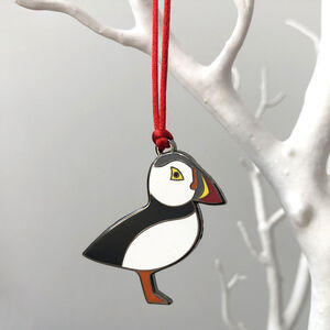 Puffin Christmas Tree Decoration