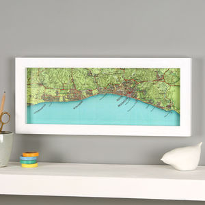 Personalised Brighton Hove Map Location Print - posters & prints