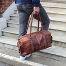 'Drake' Leather Holdall Bag Water Resistant Wax