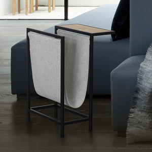 Foxmore Side Table + Magazine Sling - living room