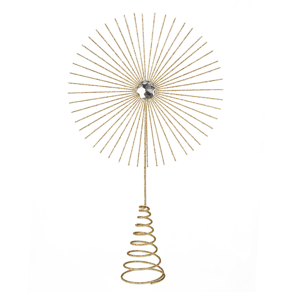 Contemporary gold star christmas tree topper by the for Modern gold christmas tree