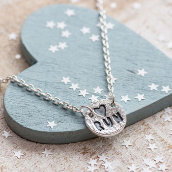 Love To Run Necklace Silver Necklace Gift For Runner