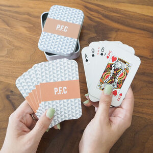 Personalised Geometric Initials Playing Cards