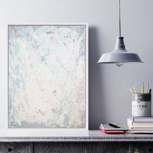 'Blush Fizz' Framed Giclée Abstract Canvas Print Art - modern & abstract