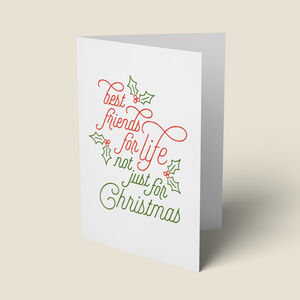 'Best Friends For Life' Christmas Card
