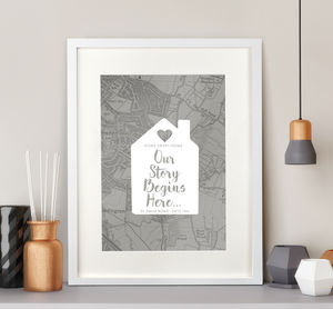 Personalised New Homeowner Map Print