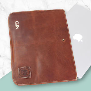 Personalised Leather Stockholm Macbook Sleeve/Case