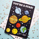You're A Star Space Well Done Thank You Card