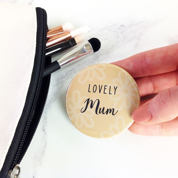 Pocket Mirror Personalised For Mum