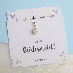 Can`t Say I Do Without You Bridesmaid Necklace - necklaces & pendants