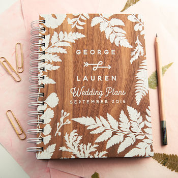 Personalised Walnut Wedding Planner