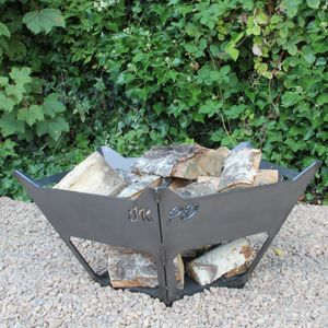 Personalised Steel Crown Firepit
